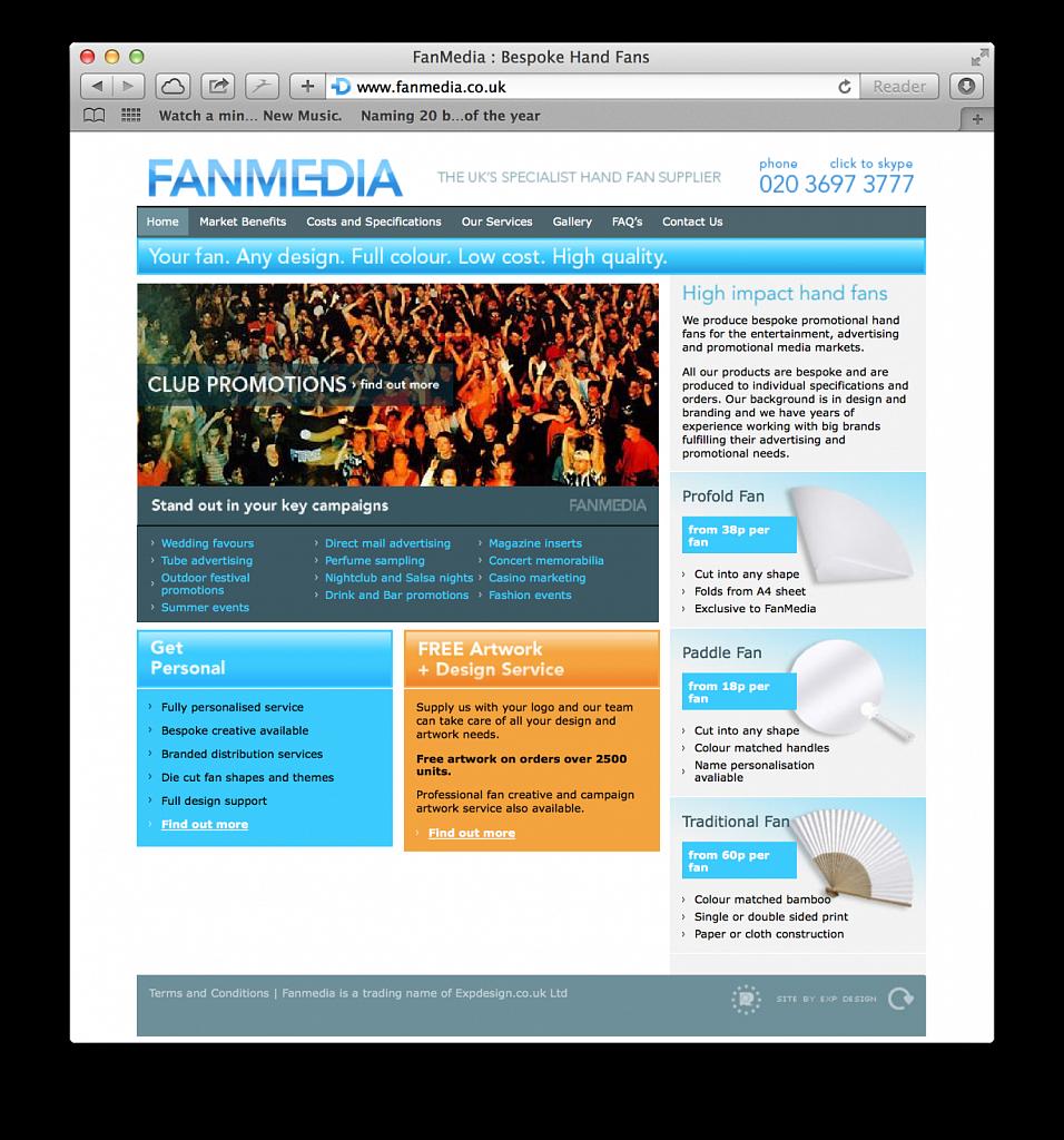 Fan Media website